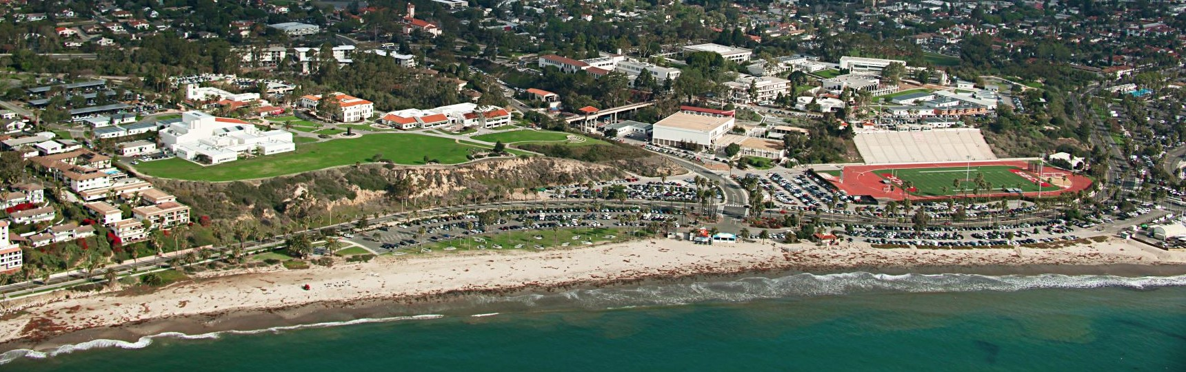 Aerial view of SBCC campus
