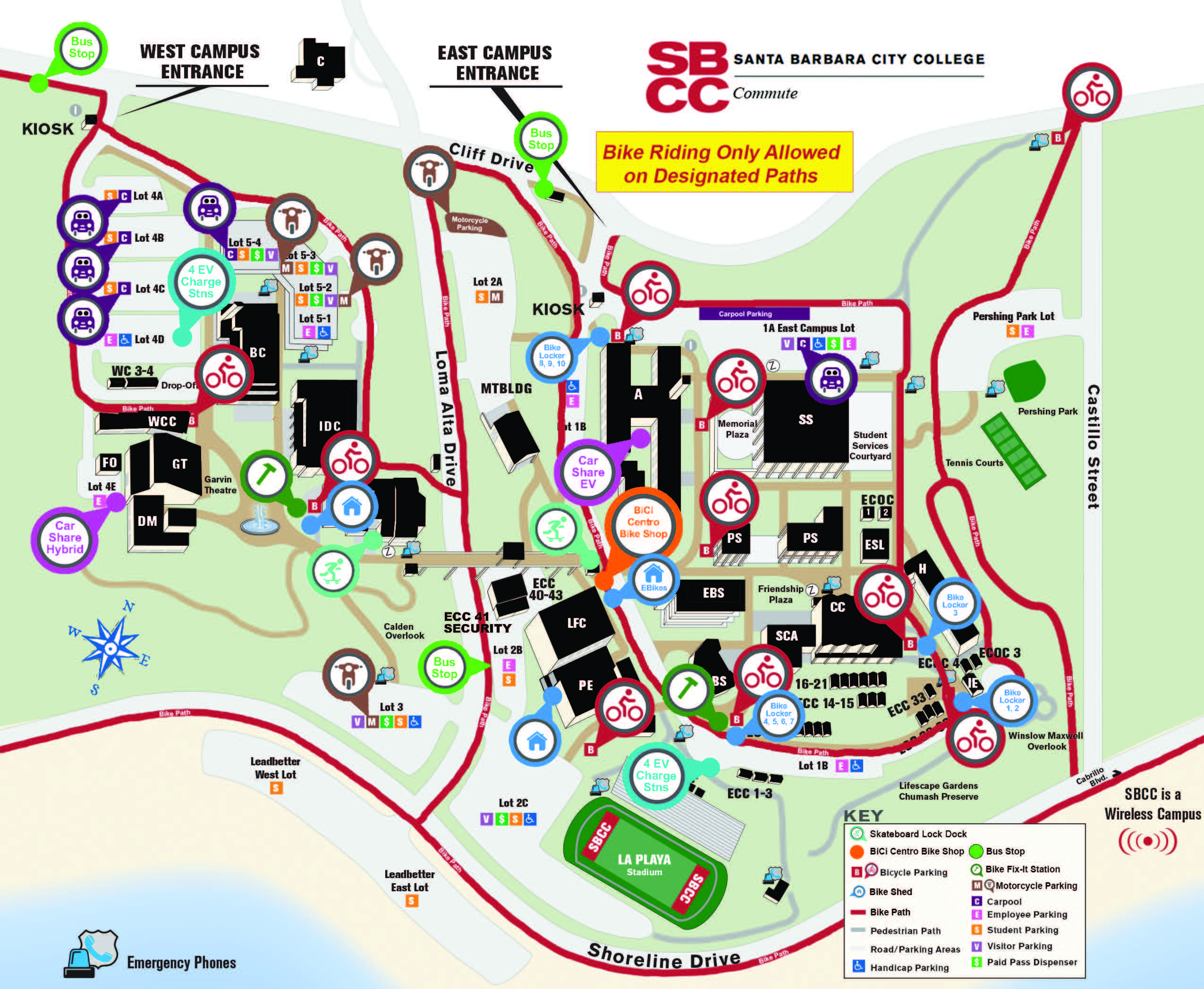 SBCC Transportation Map