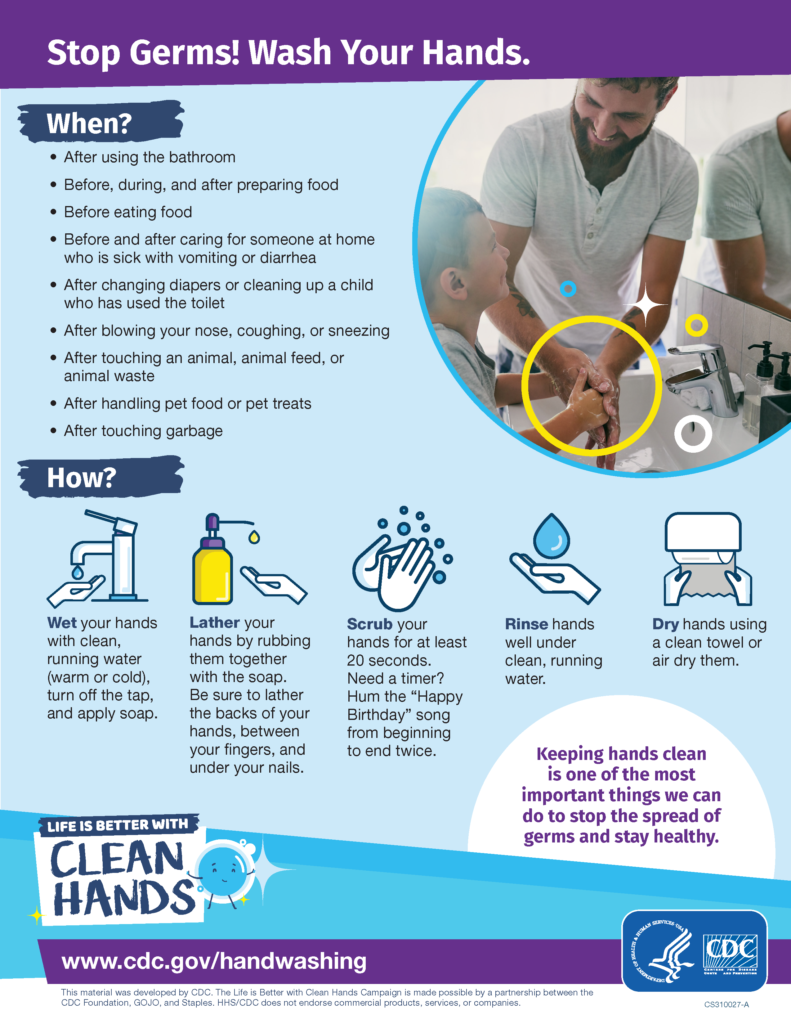 Wash your hands fact sheet